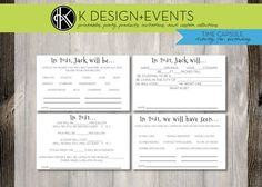 1st Birthday Printable Time Capsule Activity by KDesignandEvents