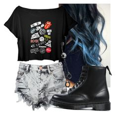 """My outfit!!!"" by onedirection-emblem3 ❤ liked on Polyvore featuring moda, Glamorous, Dr. Martens y Bling Jewelry"