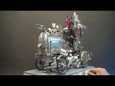 VIDEO: The Devil Rides out - A steampunk automata made from wood, brass and found objects  by Keith Newstead.