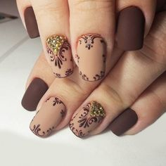 18 Beige Nails for Your Next Manicure Have you ever experienced with a manicure in beige? You should try to paint beige nails right away. Beige is a color which is between nude. Beige Nail Art, Beige Nails, Brown Nails, Brown Nail Art, Fabulous Nails, Gorgeous Nails, Pretty Nails, Fancy Nails, Love Nails