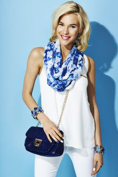 White and deep blue #CCStyle