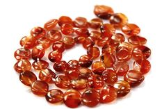 Carnelian Smooth Coin / 6 to 10.50 mm / 51 by beadsofgemstone