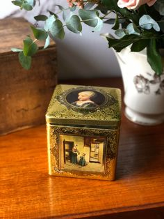 Excited to share this item from my shop: Vintage gold Dutch collectible tin of famous painters /paintings made in Holland Dutch painters container biscuit tin Pieter De Hooch, Dutch Painters, Biscuit, Class Ring, Holland, Container, Etsy Shop, Paintings, Gold