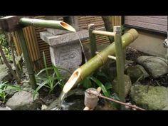 ▶ 鹿威し(獅子脅し ししおどし)を作りました。 案外いい音です。shishiodoshi /bamboo fountain - YouTube