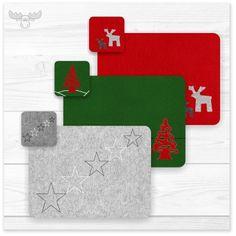 Tischsets aus Filz mit weihnachtlichen und winterlichen Motiven als Kundengeschenk, für Geschäftspartner und Mitarbeiter
