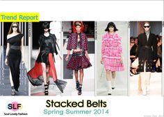 Stacked Belts #FashionTrend for Spring Summer 2014 #spring2014 #trends #belt
