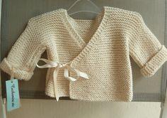 brassière point mousse indispensable pour la naissance de bébé Knit Crochet, Point Mousse, Pullover, Knitting, Sleeves, Sweaters, Baby, Google, Fashion