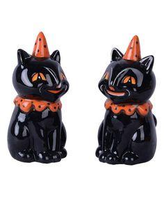 Black Cat Salt & Pepper Shaker - Set of Two | zulily