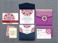 Indian Wedding Invitations   12 Colorful and Detailed Invitations - KnotsVilla