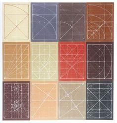 Golden Ratio Grids | white on colour
