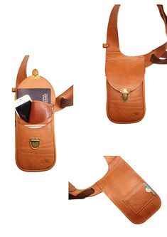 · Leather holster bag DELUXE - Leather shoulder holster bag Made in FRANCE - Material : Leather vegetable tanning ITALIAN CONSORTIUM. * Leather is a natural product therefore, each leather skin… Leather Fanny Pack, Leather Belt Bag, Leather Holster, Leather Skin, Sacoche Holster, Military Fashion, Mens Fashion, Style Masculin, Carry On Luggage