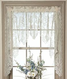Provence Blue Lace Cafe Curtai |