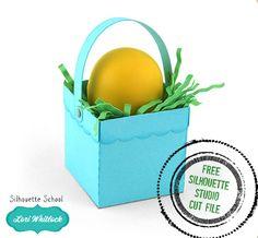 Free 3D Mini Easter Basket Silhouette Studio Cut File (And a Big Announcement) ~ Silhouette School
