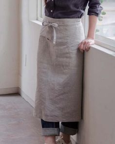 linen garcon apron — inspired and then fashioned to have the look and feel of our grandmother's apron. made in japan, this linen apron just gets better with time. this ...