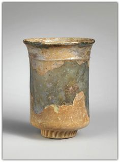 Glass beaker. Period: Late Imperial. Date: 4th century A.D. Culture: Roman.