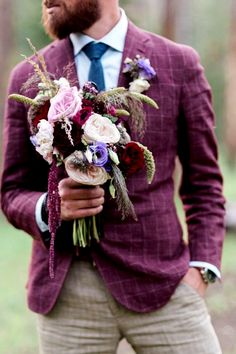 Purple and Burgundy
