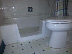 The TubcuT installed in a Cincinnati suburb, this tub was a cast iron bathtub.