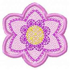 This free embroidery design is a spring flower.  Get it today!