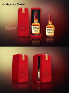 Maker's Mark Whisky Gift Box Concept – Metallic Box – inspirationpatterns Box Design, Makers Mark, Whisky, Cleaning Supplies, Metallic, Concept, Graphic Design, Bottle, Blog