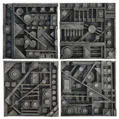 United Art and Education Art Project:  This wood relief project was inspired by American sculptor Louise Nevelson.