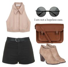 """""""Street Style x"""" by eduardacardoso1999 ❤ liked on Polyvore featuring Cacharel, Topshop, Billini, The Cambridge Satchel Company and M&Co"""