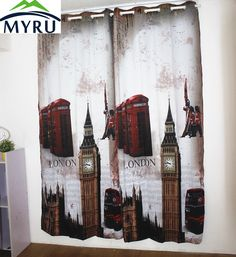 MYRU Anticorrosive Metal Grommet British living room bedroom curtains uk london blackout curtains 1.4mx2.6m