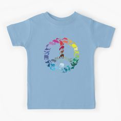 """""""Animals of Peace"""" Kids T-Shirt by rtofirefly 