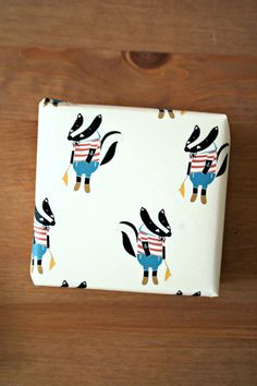 Wrapping Paper -Sailor Badger- on Etsy, £2.44