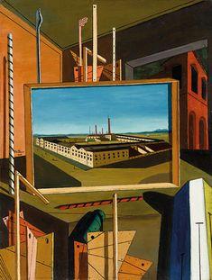 Giorgio de Chirico Interno metafisico (con grande officina), fine 1916 Olio su tela, cm 96,3 x 73,8  Stoccarda, Staatsgalerie - Opera in mostra