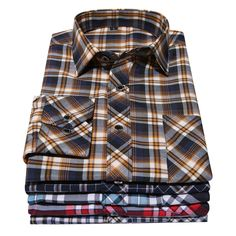 2015 High quality Hitz long-sleeved plaid shirt men's casual shirts Slim shirt puls size shirts 10 colors selection top selling