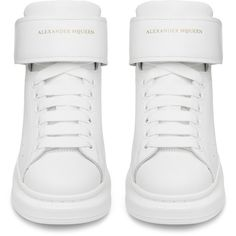 Alexander McQueen Mens Mid Top Lace Up Sneaker ($780) ❤ liked on Polyvore featuring men's fashion, men's shoes, men's sneakers, alexander mcqueen mens shoes, mens lace up shoes, mens sneakers and mens shoes