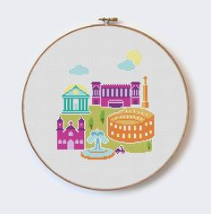 Rome - modern cross stitch pattern - PDF format - instant download Buy 2 Get 1 Free by MilaliParade on Etsy https://www.etsy.com/listing/235587664/rome-modern-cross-stitch-pattern-pdf