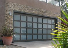 contemporary garage doors | the stunningly modern garage door the athena model uses a contemporary ...