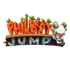 Jump as hight as you can together most brave sheep Philbert. Jump carefully avoiding enemies and obstacle or throw carrots to them. Investigate new world and reach new hight!Have you got question why sheep collects c… Bg Design, Game Logo Design, Graphic Design, Game Font, Game Ui, Cars 1, Splash Screen, Cartoon Logo, Text Style