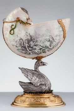 Nautilus shell and silver gilt Augsburg Germany Late 17th Century