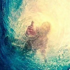 he reached down from on high and took hold of me. he drew me out of deep waters.