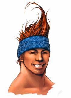 View an image titled 'Wakka Face Art' in our Final Fantasy X art gallery featuring official character designs, concept art, and promo pictures. Final Fantasy X, Artwork Final Fantasy, Mobius Final Fantasy, Final Fantasy Characters, Fantasy Series, Fantasy Rpg, Game Character Design, Fantasy Character Design, Character Art