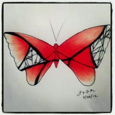 "100 Butterflies in 100 Days, Day 53 - ""Journey"", Medium: Color Pencil"