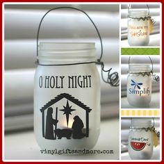 Super Saturday Crafts: More Jar Vinyl designs