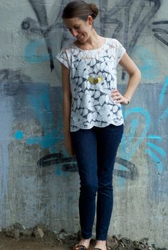 Surprise! I made another lace tee…I have a bit of an addiction to lace t-shirts, and why...