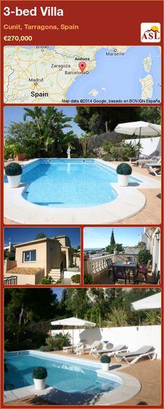 3-bed Villa in Cunit, Tarragona, Spain ►€270,000 #PropertyForSaleInSpain