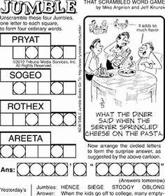 jumble word puzzle   Word Jumble