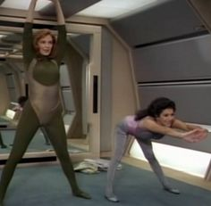 Like... come on people! the mirrors in the background, the thong-like unitard with busty cut-outs... haha oh the 80's. Post 155- The Star Trek Workout: The Price
