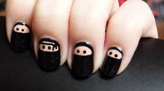 Ninja nails!  http://lyndarthemerciless.blogspot.com/2011/06/nails-of-day-ninjanailz.html
