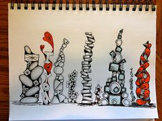 Great doodling technique - repeating stacks