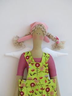 Lovely fabric angel doll in Tilda style