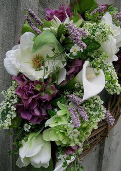 Summer Wreath Victorian Garden Wreath Designer by NewEnglandWreath