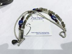 Natural stones with Sterling Silver bracelet