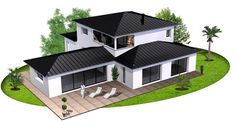 Discover recipes, home ideas, style inspiration and other ideas to try. Family House Plans, New House Plans, Modern House Plans, Modern Roof Design, Flat Roof House Designs, Home Exterior Makeover, Modern Architecture House, Roof Architecture, Villa Design