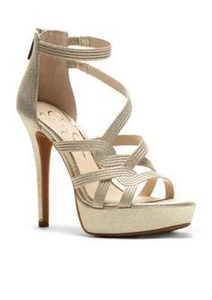 Jessica Simpson Gold Bellane High Heel Dress Shoe